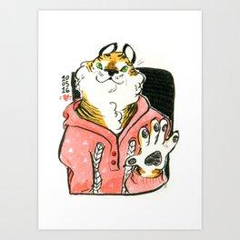 Tigerfriend Art Print