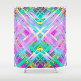 Colorful Digital Art Splashing G473 Shower Curtain