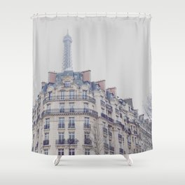 Paris photography, Eiffel tower, Saint-Germain-des-Prés, Paris architecture, boulevard Shower Curtain