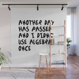 Another Day Has Passed I Didn't Use Algebra Wall Mural
