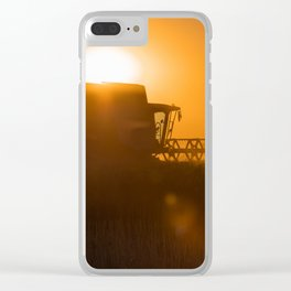 Midsummer time is harvest time of the cereal fields Clear iPhone Case