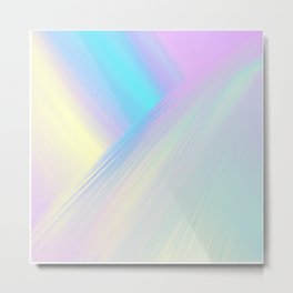 Cosmic Light Reflection Metal Print
