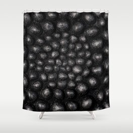 Denim Silver Sea Shell Shower Curtain