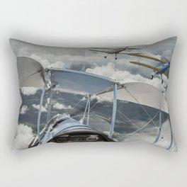 Biplane squadron Rectangular Pillow