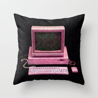 gaming Throw Pillows featuring Retro Gaming by Cullen Rawlins