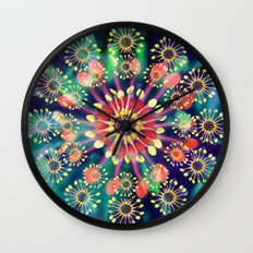 Flower Clock Wall Clock