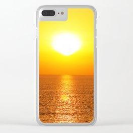 marine sunset Clear iPhone Case