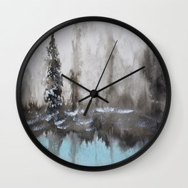 Little Pine Tree Wall Clock