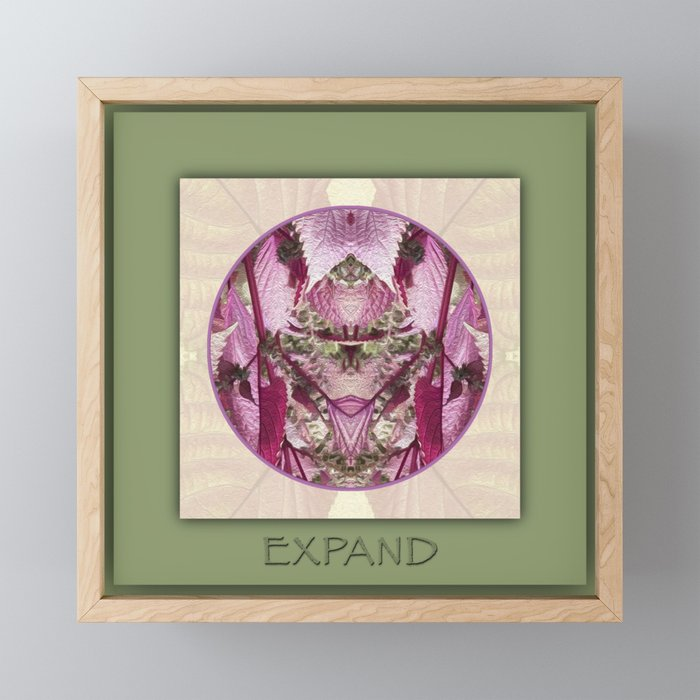 Expand Manifestation Mandala No. 8 Framed Mini Art Print