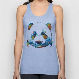 Colorful Panda Bear Art By Sharon Cummings Unisex Tank Top