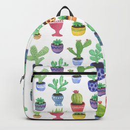 Watercolor Cactus + Succulents Backpack