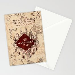 TheMarauders Map Stationery Cards