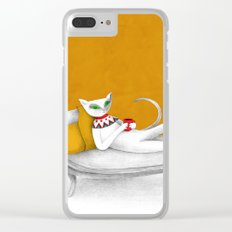 starting with a coffeebreak Clear iPhone Case