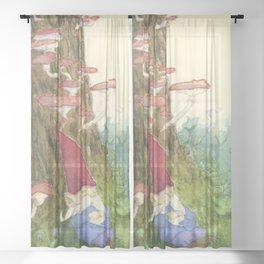 The Sleeping Gnome Sheer Curtain