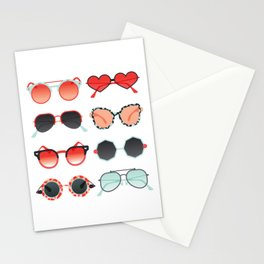Sunglasses Collection – Red & Mint Palette Stationery Cards