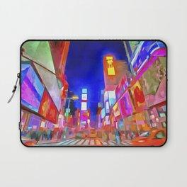 Times Square New York Pop Art Laptop Sleeve