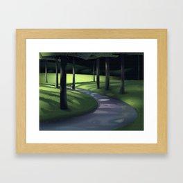 Undergrowth Path Framed Art Print