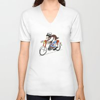 honda V-neck T-shirts featuring Honda CB50M 1968 by SeTtHe
