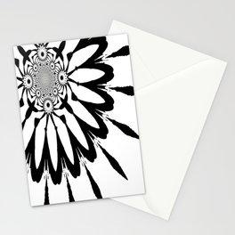 The Modern Flower White & Black Stationery Cards