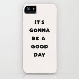 Good Day - Black & Cream iPhone Case