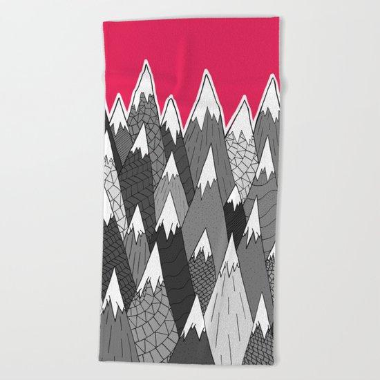 The Tall Grey Mountains Beach Towel