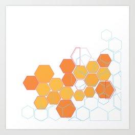 Mosaic orange Art Print