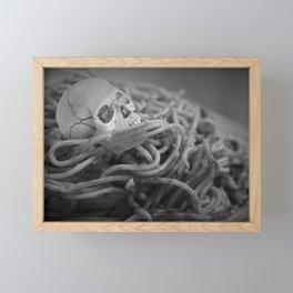 Creepy Pasta (Literally) Framed Mini Art Print