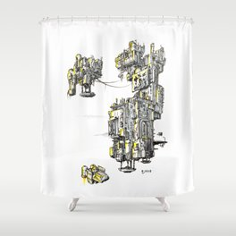 Antigravity Factory 01 Shower Curtain