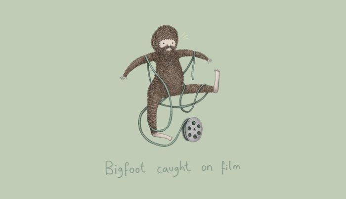 Bigfoot Caught on Film Pillow Sham