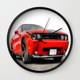 Red Dodge Challenger Wall Clock