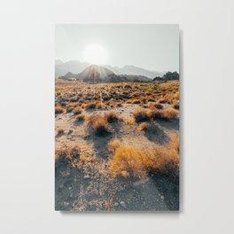 Desert Mountain Sunset Metal Print