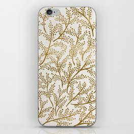 Gold Branches iPhone Skin