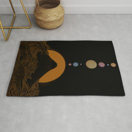 Solar system view from earth Rug