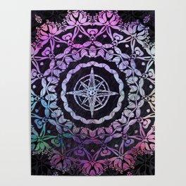 Dark Destination Mandala Poster