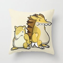 Pokémon - Number 27 & 28 Throw Pillow