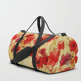 Rose flower vintage pattern Duffle Bag