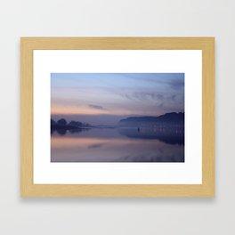 sunset on the clyde  Framed Art Print