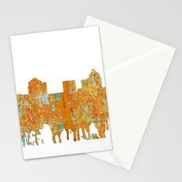 Greensboro, NC Skyline - Rust Stationery Cards