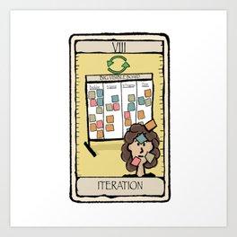 Office Tarot - Series 2 - Agile - Iteration Art Print
