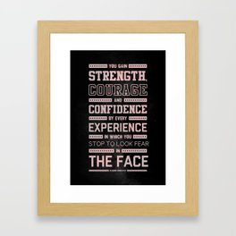 Lab No. 4 Strength Does Not Come Arnold Schwarzenegger Motivational Quote Framed Art Print