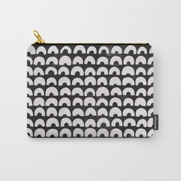 Black & Half Circles Carry-All Pouch