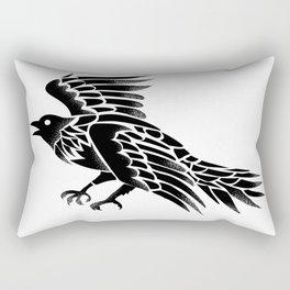 Raven Flying Side Tattoo Rectangular Pillow