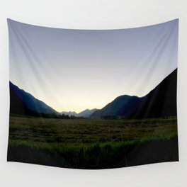 Tranquil mountains dusk Wall Tapestry