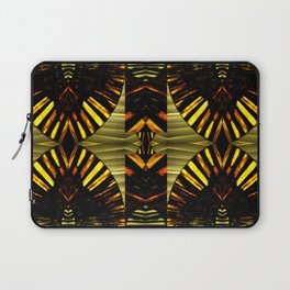 FanFare Whimsey on Gold,Green,Red,Gray,Black Laptop Sleeve