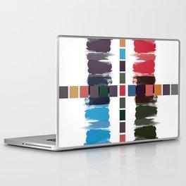 Bold brushstrokes with mosaic stripes Laptop & iPad Skin