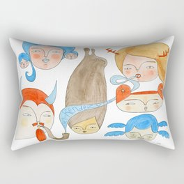 Secret Rendezvous Rectangular Pillow