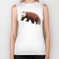 red panda Biker Tanks featuring Red Panda by Ben Geiger