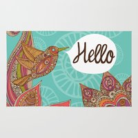 hello beautiful Area & Throw Rugs featuring Hello by Valentina Harper