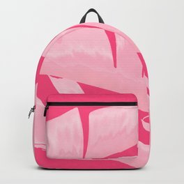 Chill Pink Tropical Banana Leaves Design Backpack