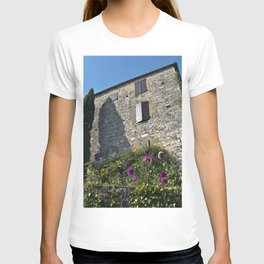Little French village with a Medieval Castle T-shirt